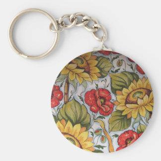 SunFlower K.Chain Basic Round Button Keychain