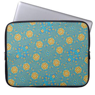 Sunflower kaleidoscope computer sleeve
