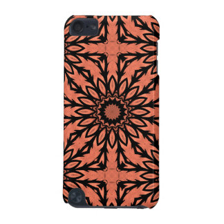 Sunflower kaleidoscope in peach and black iPod touch 5G covers