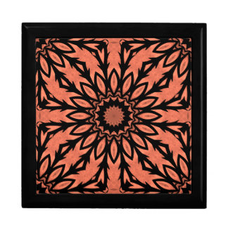Sunflower kaleidoscope in peach and black gift boxes