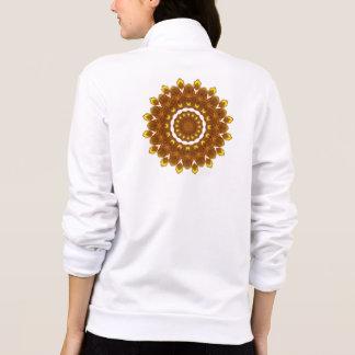 Sunflower Kaleidoscope Mandala Printed Jacket