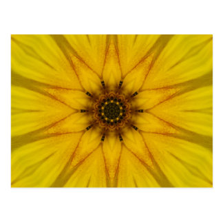 Sunflower Kaleidoscope Postcard
