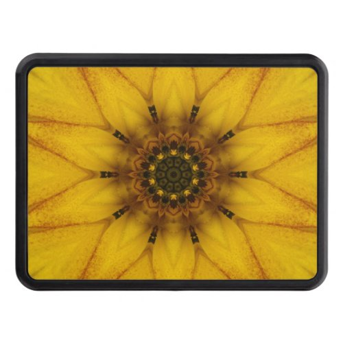 sunflower kaleidoscope tow hitch cover