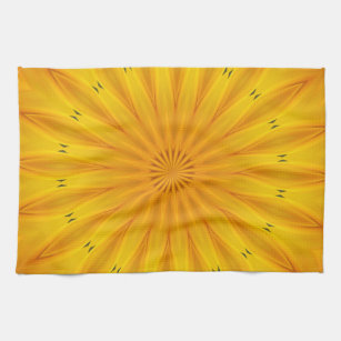 Sunflower Kaleidoscope Towel