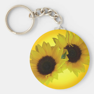 Sunflower Key Chain Cheeful Yellow Flower Gifts