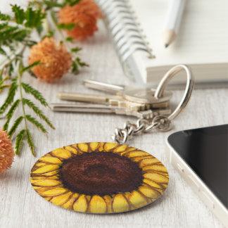 Sunflower Key Chains Cheerful Yellow Flower Gifts