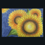 "Sunflower Kitchen Table Placemat Gift<br><div class=""desc"">Bright,  cheerful sunflowers decorate this placemat. The design is from an original painting.</div>"