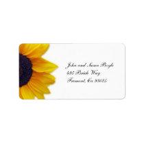 Sunflower Label