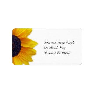 Sunflower Label Address Label