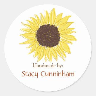 Sunflower Labels for Handmade items