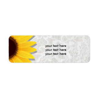 Sunflower Lacy Lace Rustic Country Address Labels