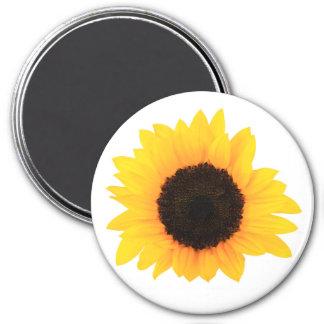 Sunflower Large, 3 Inch Round Magnet