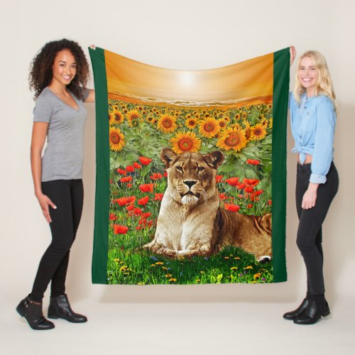Sunflower Leo Fleece Blanket