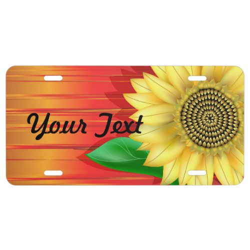 Sunflower License Plate