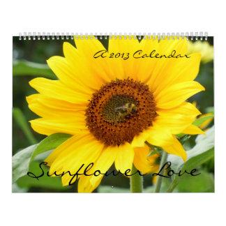 Sunflower Love 2013 Calendar