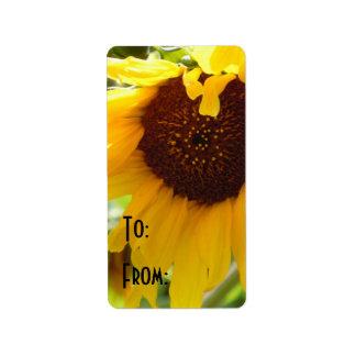 Sunflower Love Address Label