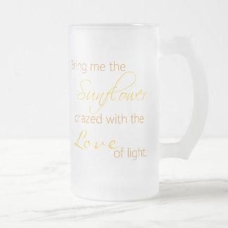 Sunflower Love Quote Coffee Mug