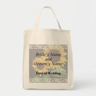 Sunflower Love Wedding Products Canvas Bag