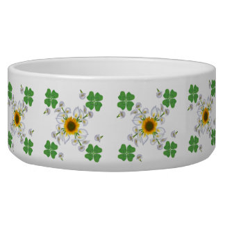sunflower, lucky clover and calla lily bowl