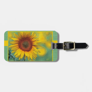 Sunflower Luggage Tag