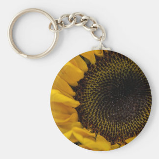 Sunflower Macro Photo Keychains