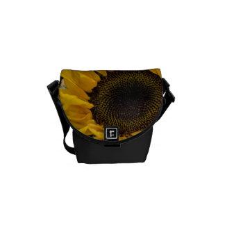 Sunflower Macro Photo Messenger Bags