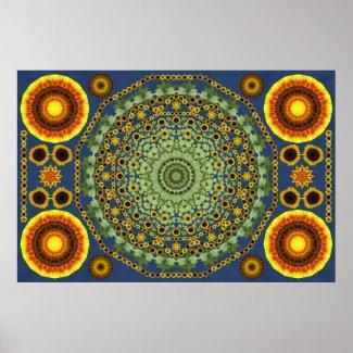 Sunflower Mandala 2 Posters