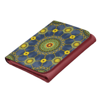 Sunflower Mandala Array Wallet