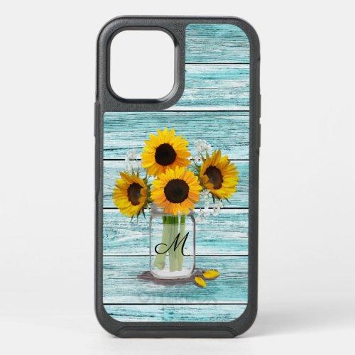 Sunflower Mason Jar Monogram OtterBox iPhone Case Phone Case