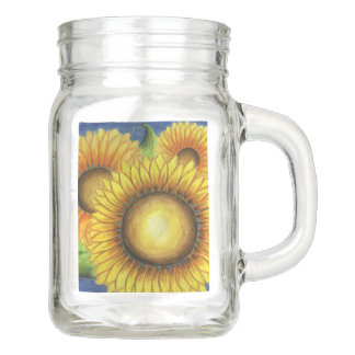 Sunflower Mason Jar Mug
