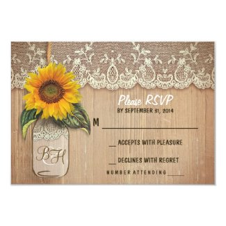 sunflower RSVP cards