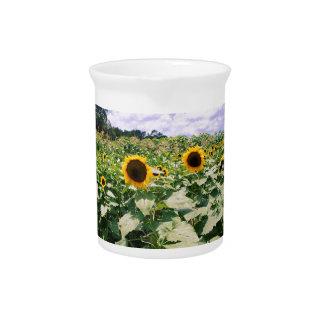 Sunflower Maze Beverage Pitcher