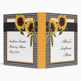 Sunflower Memory Album 3 Ring Binder