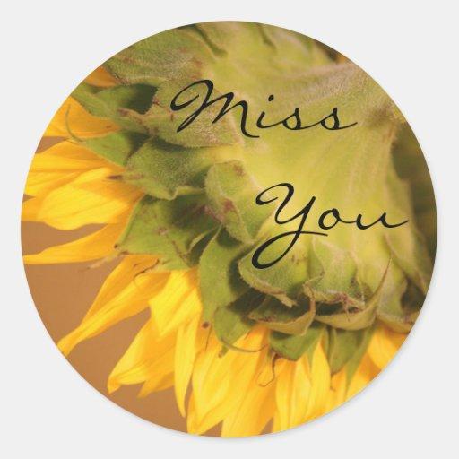 Sunflower, Miss You Sticker
