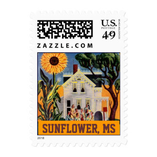 Sunflower Mississippi MS Front Porch Rural Stamps
