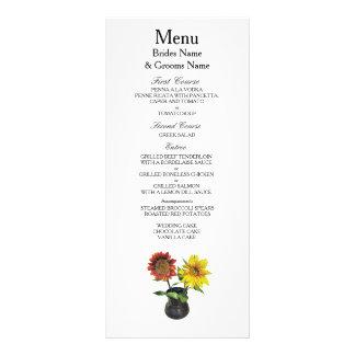 Sunflower Modern Simple Elegant WeddingIdeas Rack Card