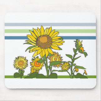 Sunflower + Modern + Stripes Mouse Pads