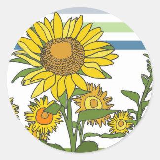 Sunflower + Modern + Stripes Stickers