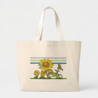 Sunflower + Modern + Stripes Tote Bag
