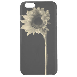 Sunflower - Monochrome Fine Art Photograph Clear iPhone 6 Plus Case