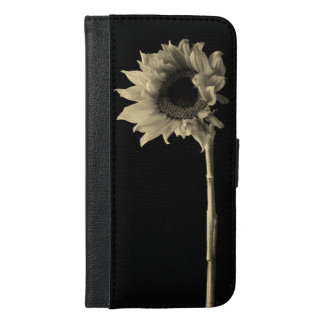 Sunflower - Monochrome Fine Art Photograph iPhone 6/6s Plus Wallet Case