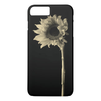 Sunflower - Monochrome Fine Art Photograph iPhone 8 Plus/7 Plus Case