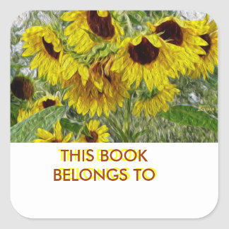 Sunflower Morn Book Plate Stickers
