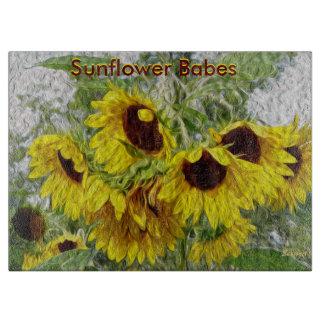 Sunflower Morn Sunflower Babes Cutting Board