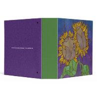 Sunflower Mosaic 3-ring Binder
