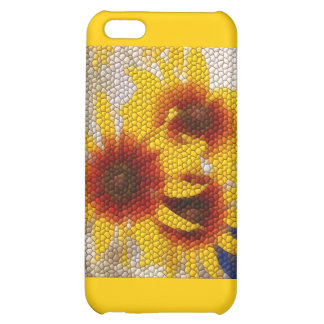 Sunflower Mosaic - case Cover For iPhone 5C