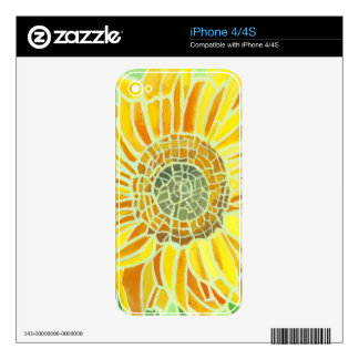 Sunflower Mosaic Design iPhone 4 Skin