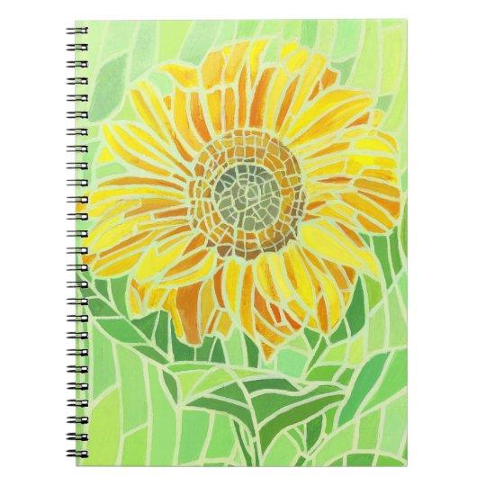 Sunflower Mosaic Notebook