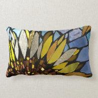 Sunflower mosaic pillow