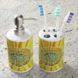 Sunflower Mosaic Toothbrush Set